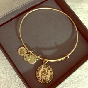 ALEX AND ANI Gold Saint Christopher Guide My Path